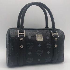Authentic MCM Black & Gray Leather Small Handbag
